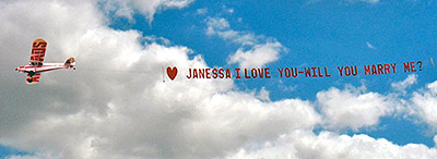 Air ads banner I love you